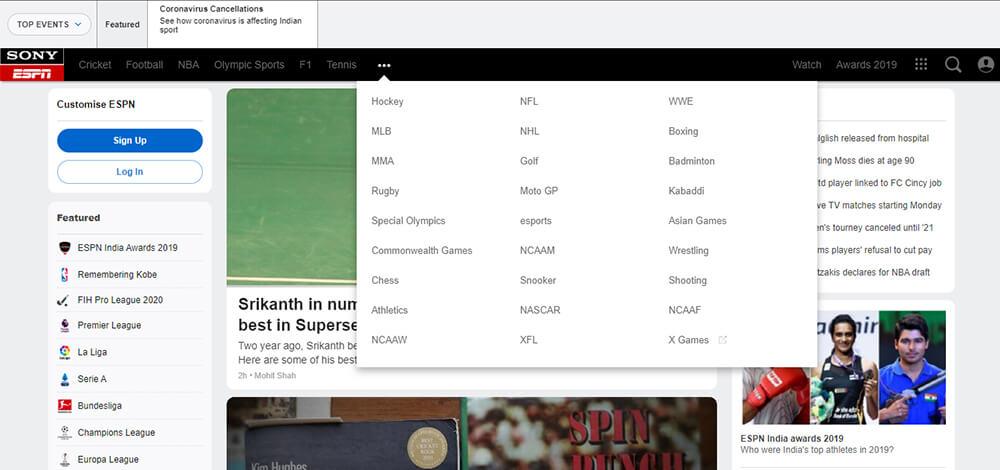ESPN - Watch Free Sports Online