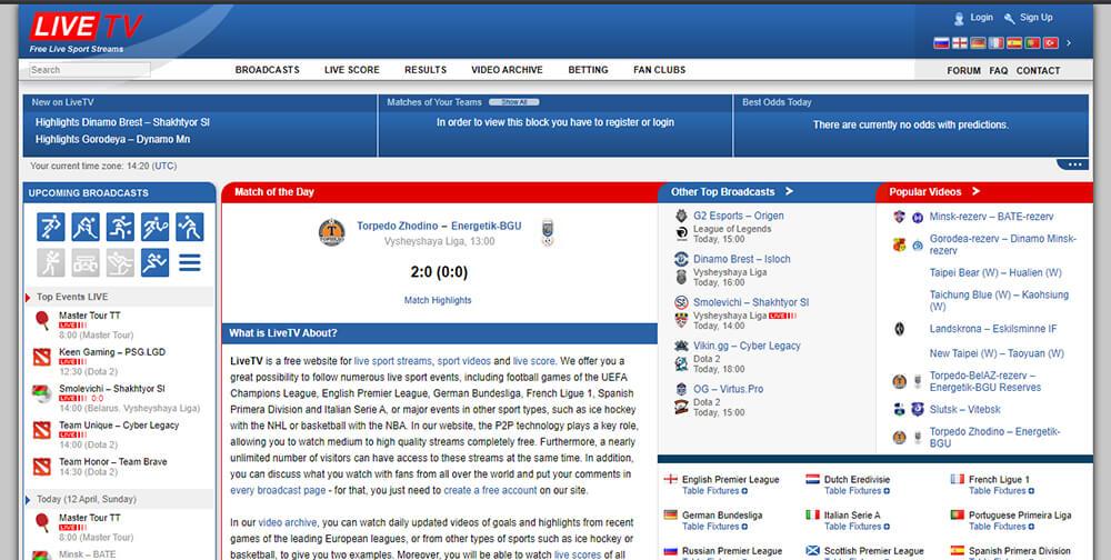 LiveTV - Watch Free Sports Online