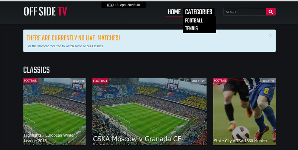 OffSideTV - Watch Free Sports Online