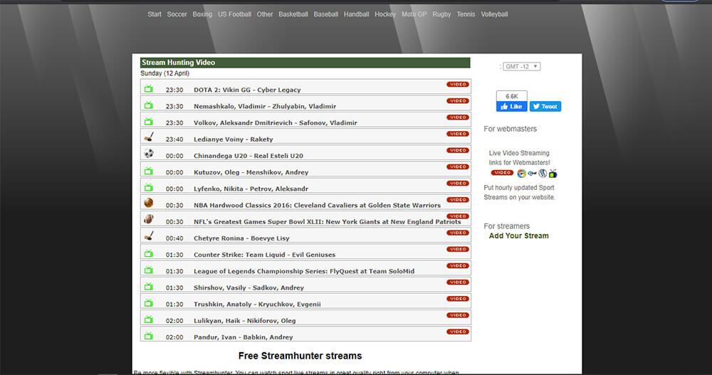 Stream Hunter - Watch Free Sports Online