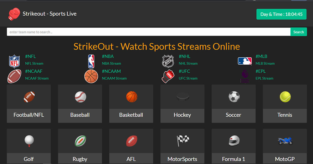 Strikeout - Watch Free Sports Online